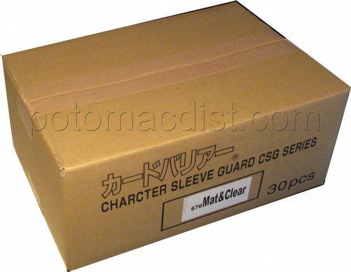 KMC Standard Oversized Deck Protectors - Character Guard Case [Matte Clear/30 packs]