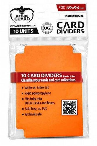 Ultimate Guard Orange Card Dividers Pack