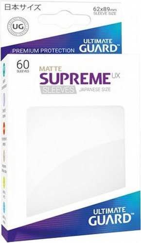 Ultimate Guard Supreme UX Japanese/Yu-Gi-Oh Size Matte White Sleeves Pack