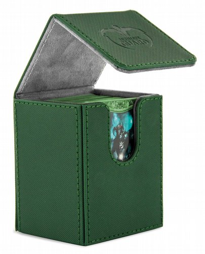 Ultimate Guard Xenoskin Green Flip Deck Case 100+