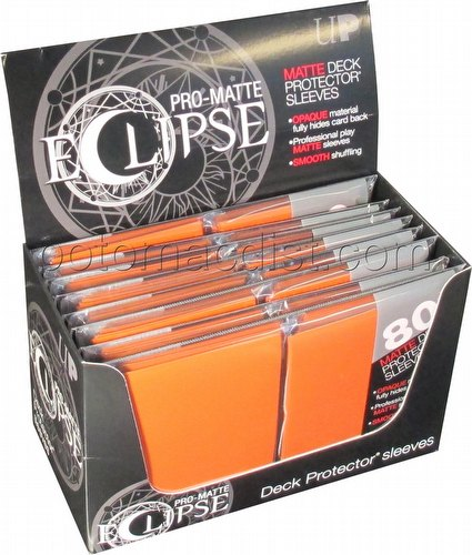 Ultra Pro Pro-Matte Eclipse Standard Size Deck Protectors Box - Orange