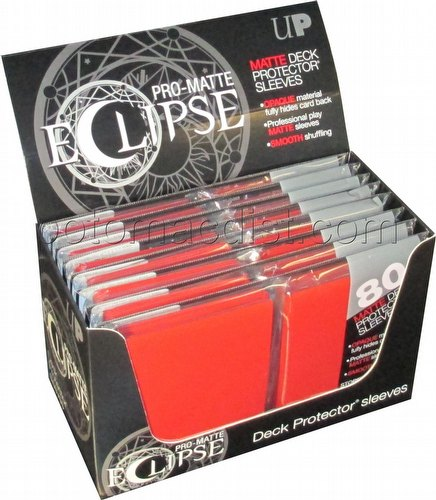 Ultra Pro Pro-Matte Eclipse Standard Size Deck Protectors Box - Red