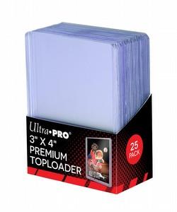 "Ultra Pro 3"" x 4"" Premium Toploaders Pack [1 pack of 25 Toploaders]"