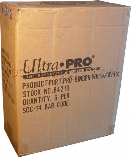 Ultra Pro White with White Pages 9-Pocket Pro Binder Case [6 binders]