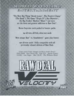 Raw Deal CCG: Velocity Booster Pack