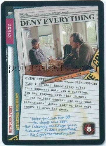 related items x files booster 1st edition box   36 x files 101361    X Files Deny Everything