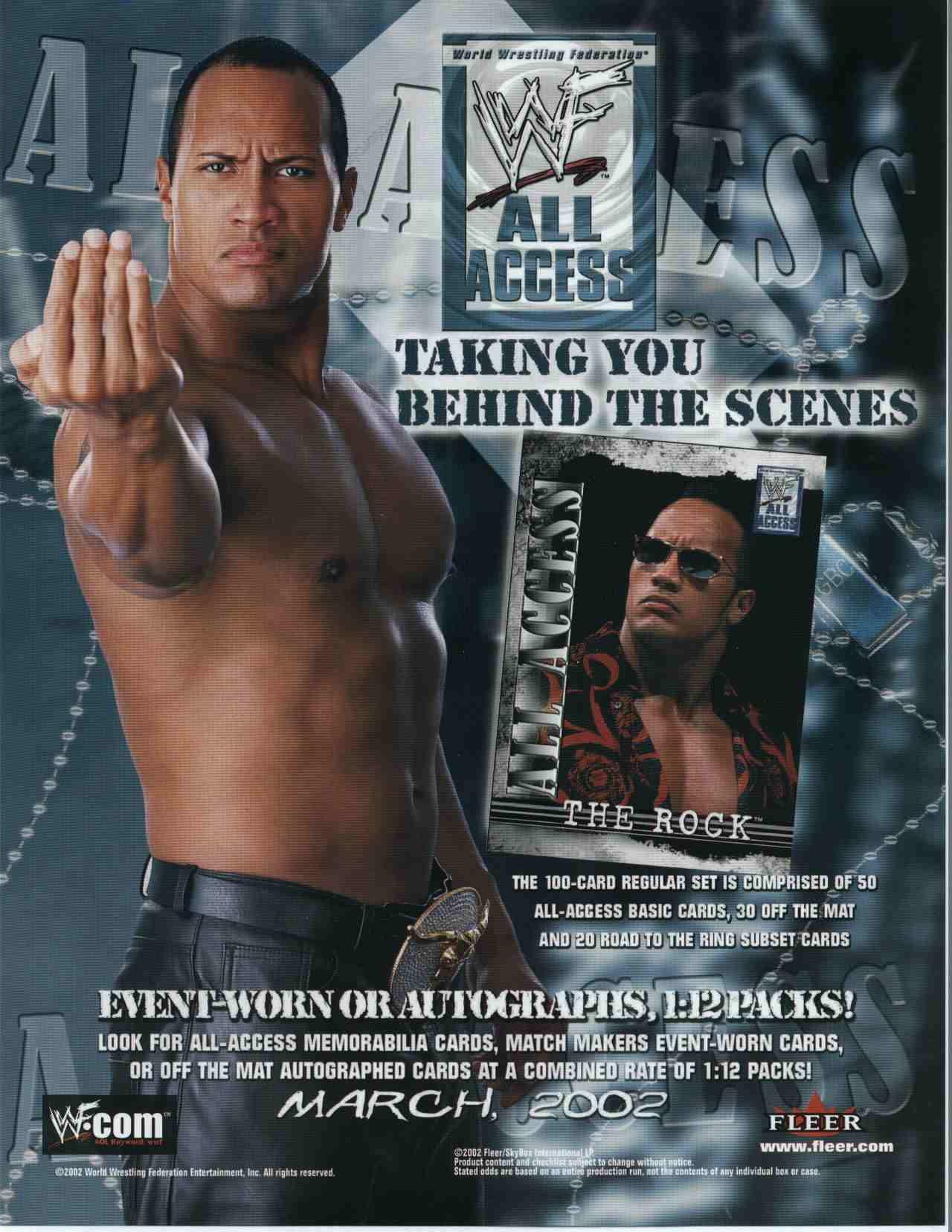 02 Fleer WWF All Access Wrestling