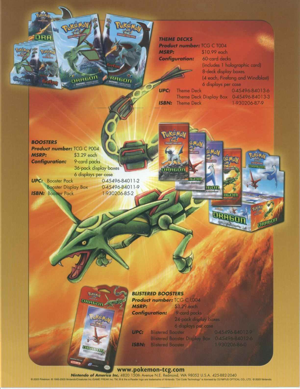 Pokemon: EX Dragon Booster Box   Potomac Distribution