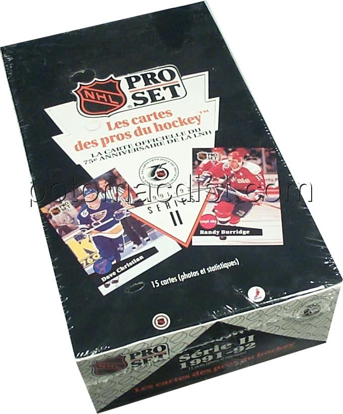 91/92 Pro Set French 2 Hockey Box