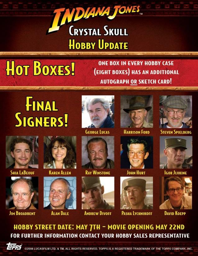 Indiana Jones and the Kingdom of the Crystal Skull Trading Cards Box [Hobby]