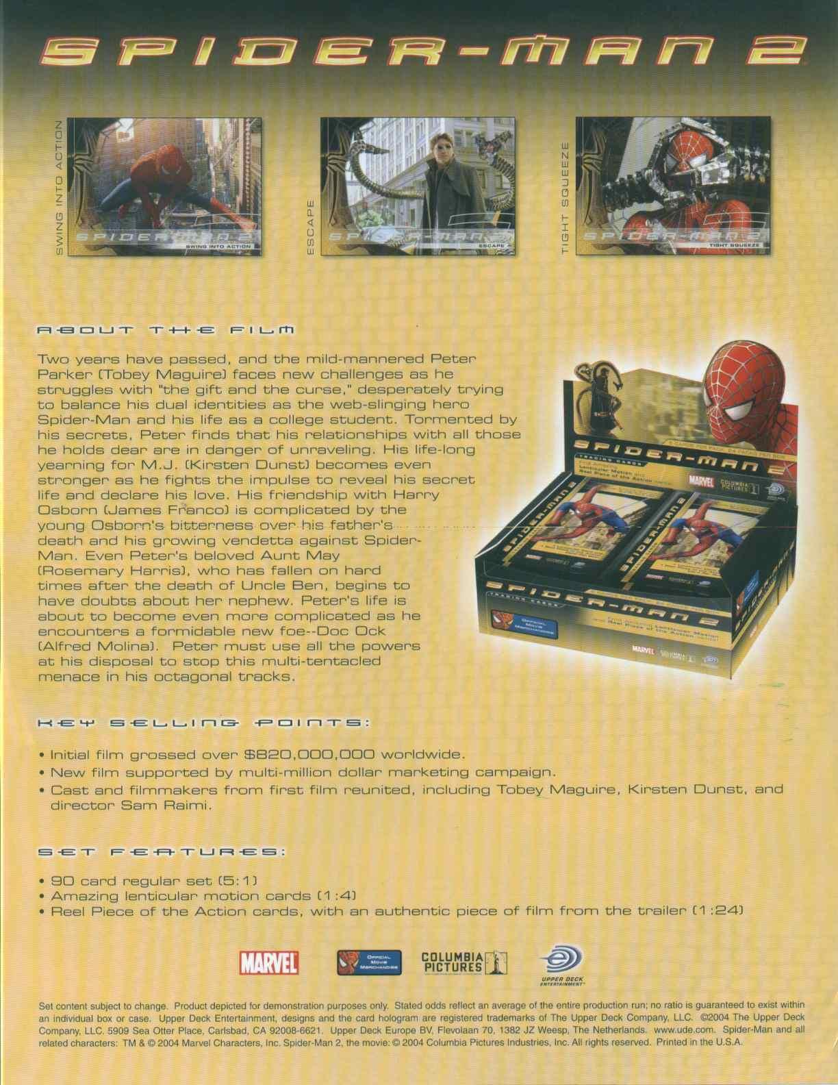 Spiderman 2 Movie Box Potomac Distribution