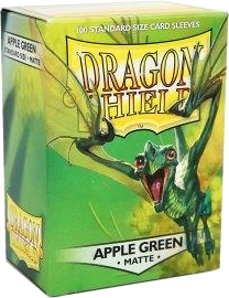 Dragon Shield Standard Size Card Game Sleeves Box - Matte Apple Green