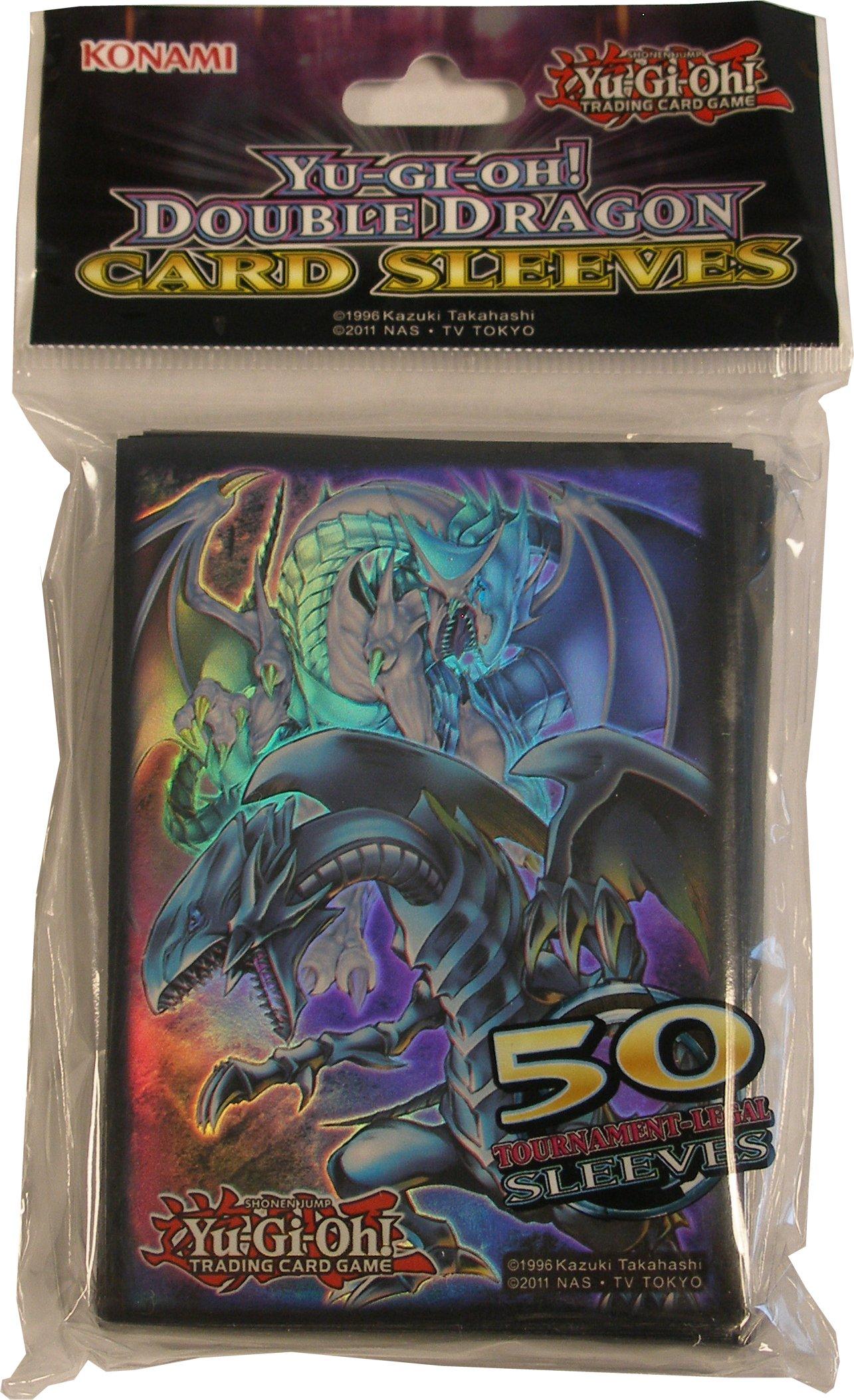 konami yu gi oh double dragon card sleeves deck protectors box