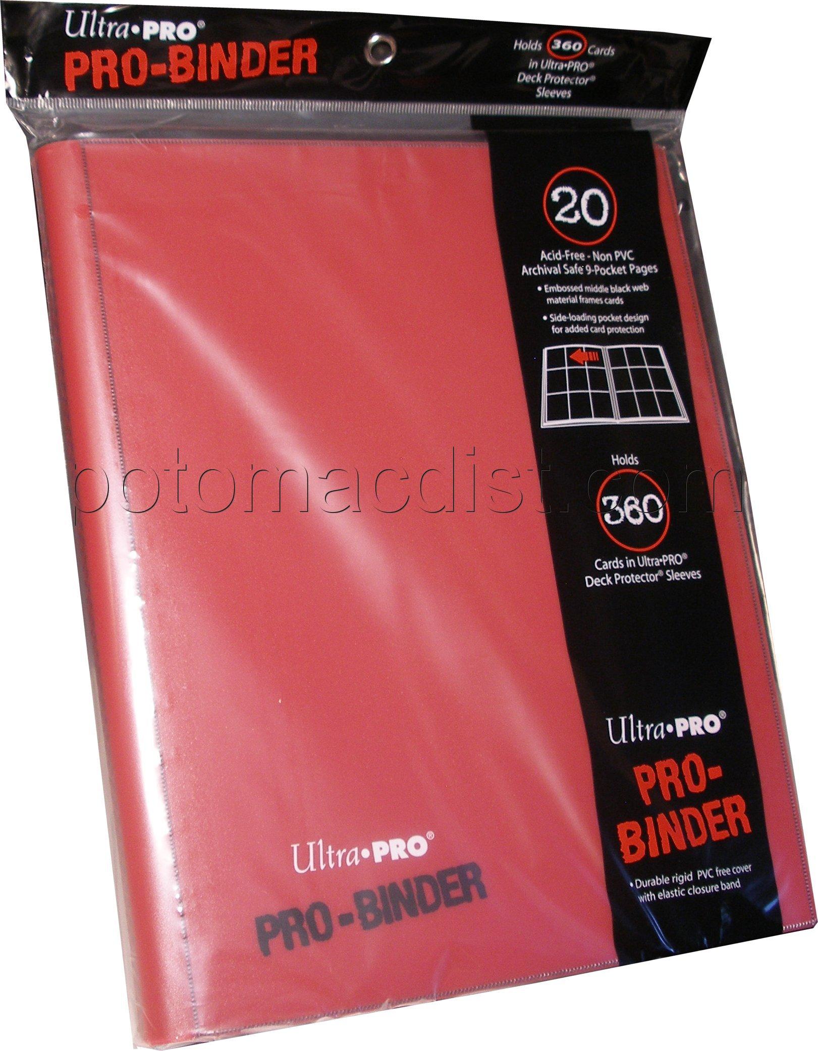 Ultra Pro 9 Pocket Pro Binder Red Case 6 Potomac