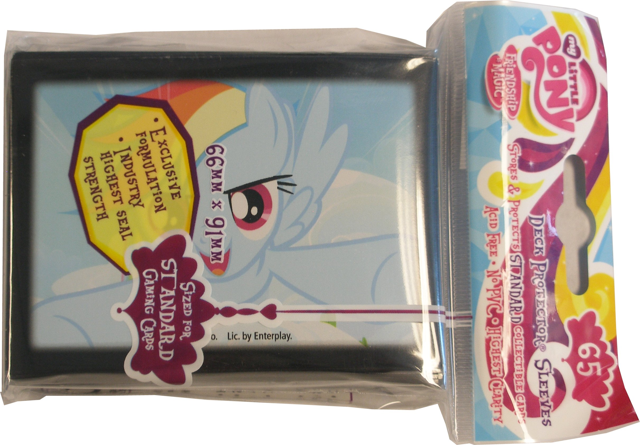 My Little Pony RAINBOW DASH Pack of 65 Sleeves /& Deck Box Standard sized