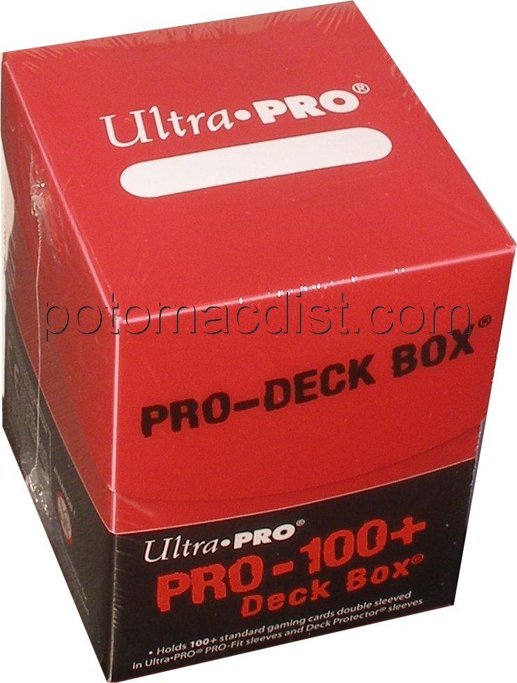 Ultra Pro Pro 100 Deck Box Red 10 Deck Boxes Potomac Distribution