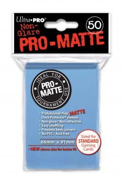 Ultra Pro Pro-Matte Standard Size Deck Protectors Box - Light Blue
