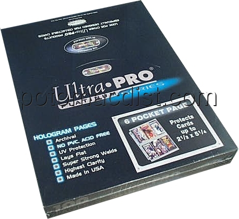 Ultra Pro Platinum 6 Pocket Pages Box 100 Pages 18
