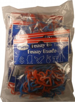 Funny Bands America Tie Dye Shaped Rubber Bands [12 packs]