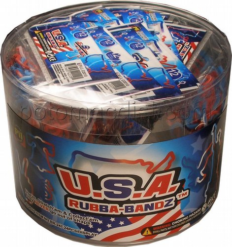 USA Shaped Rubba-Bandz Rubber Bands [24 packs]
