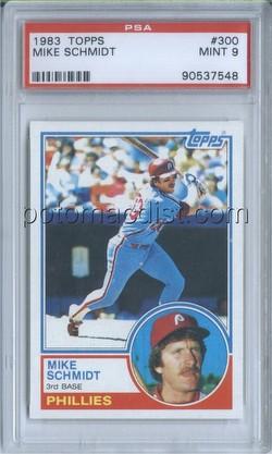 83 1983 Topps Mike Schmidt Graded Psa 8 Rookie Baseball Card 300