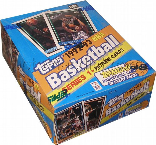 92/93 Topps Series 1 Basketball Box