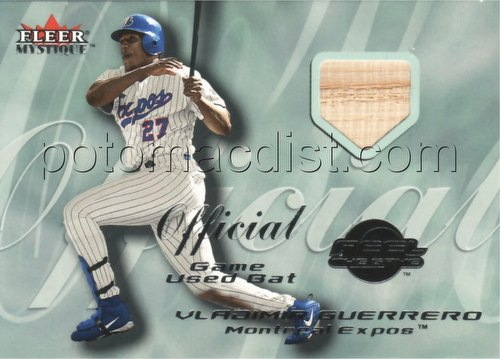 00 2000 Fleer Mystique Baseball Vladimir Guerrero Feel the Game Game-Used Bat Card