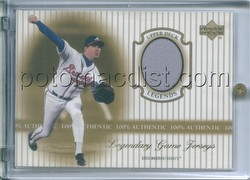00 2000 Upper Deck Legends Greg Maddux Legendary Game Used Jerseys Baseball Card [#J-GM]