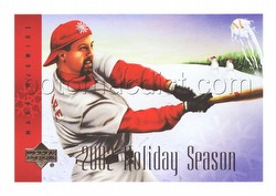 02 2002 Upper Deck Mark McGwire Holiday Card