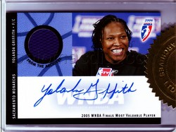 06 2006 Rittenhouse Archives WNBA Basketball Yolonda Griffith Autographed Jersey Card [AR3]