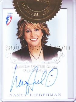 07 2007 Rittenhouse Archives WNBA Nancy Lieberman Autograph card