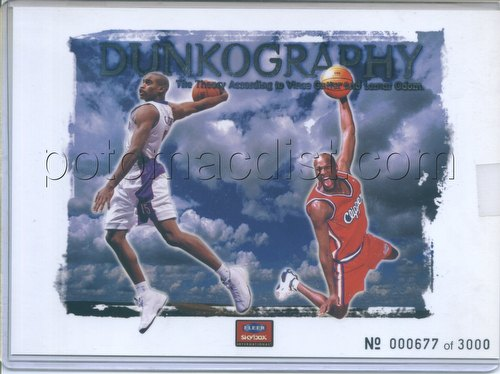 99/00 1999/2000 Fleer Vince Carter & Lamar Odom Dunkography Oversized Card