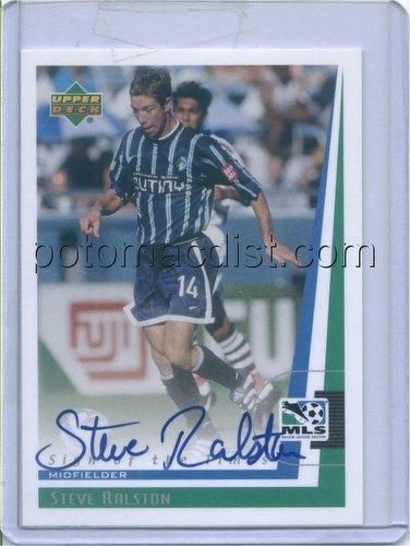 99 1999 Upper Deck MLS Soccer Steve Ralston Autograph Card [#SR]