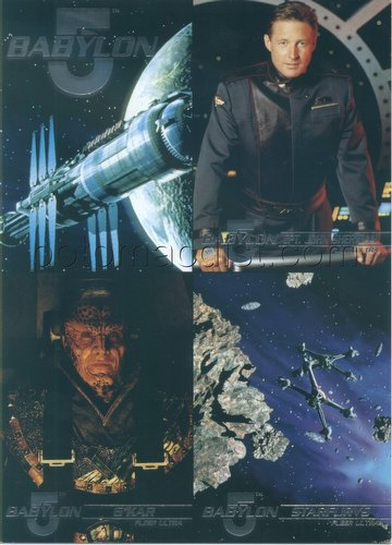 Babylon 5 Series 1 Trading Cards Promo 4-Card Panel [Fleer Ultra/Not in mint condition!]