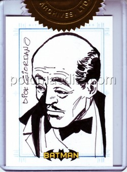 DC Comics: Batman Archives Trading Cards Alfred 9-Case Incentive Dick Giordano Sketch Card