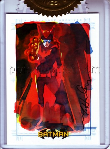 DC Comics: Batman Archives Trading Cards Batwoman 3-Case Incentive Mark McHaley Sketch Card