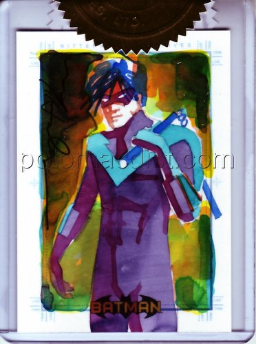 DC Comics: Batman Archives Trading Cards Nightwing 3-Case Incentive Mark McHaley Sketch Card