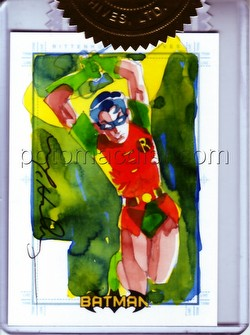 DC Comics: Batman Archives Trading Cards Robin 3-Case Incentive Mark McHaley Sketch Card
