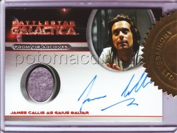 Battlestar Galactica Season 4 Trading Cards James Callis Autograph Costume 4-Case Incentive Card