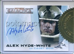 Battlestar Galactica Colonial Warriors Alex Hyde-White as Cadet Bow Autographed Case Card [#A8]