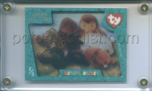 Beanie Baby Series 4 Trading Cards Case Topper Card [Ty/issued 1/7/96/#2 of 3]