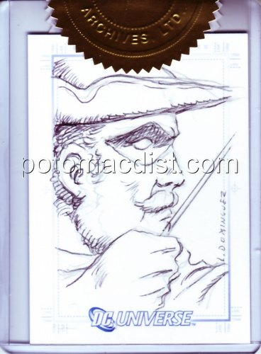 DC Comics: DC Legacy Trading Cards Luis Dominguez Green Arrow 3-Case Incentive SketchaFEX Card