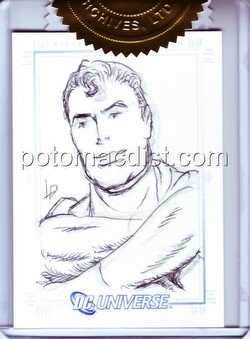 DC Comics: DC Legacy Trading Cards Luis Dominguez Superman 3-Case Incentive SketchaFEX Card