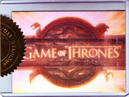 Game of Thrones: Season One Trading Cards Title Screen Case Card (#021/900) [#T1]