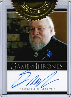 Game of Thrones: Season Two Trading Cards 6-Case Incentive George R.R. Martin Autograph Card