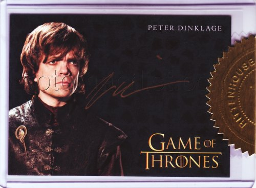 Game of Thrones: Season Three Peter Dinklage 6-Case Incentive Gold Autograph Card