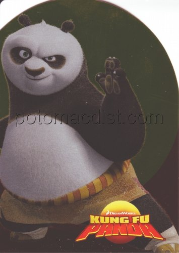 Kung Fu Panda Inkworks Die-Cut Holiday Card [#H2007]