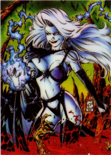 Lady Death Series 1 Trading Cards Holochrome Chase Card [#4 by Greg Capullo]