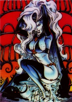 Lady Death Series 1 Trading Cards Holochrome Chase Card [#5 by Steven Hughes]