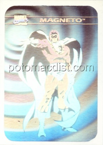 Marvel Universe Series 1 Trading Cards Magneto Hologram Card [#MH2]